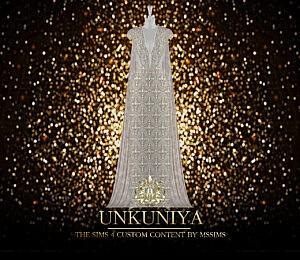 Unkuniya Gown sims 4 cc