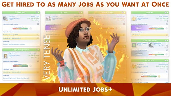 Unlimited Jobs sims 4 cc