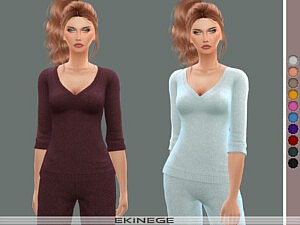 V Neck Sweater Top sims 4 cc