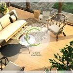 VEOX Wood Floor 6 sims 4 cc