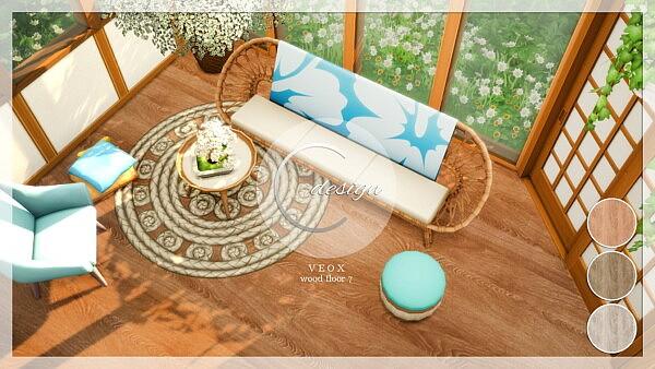 VEOX Wood Floor 7 sims 4 cc