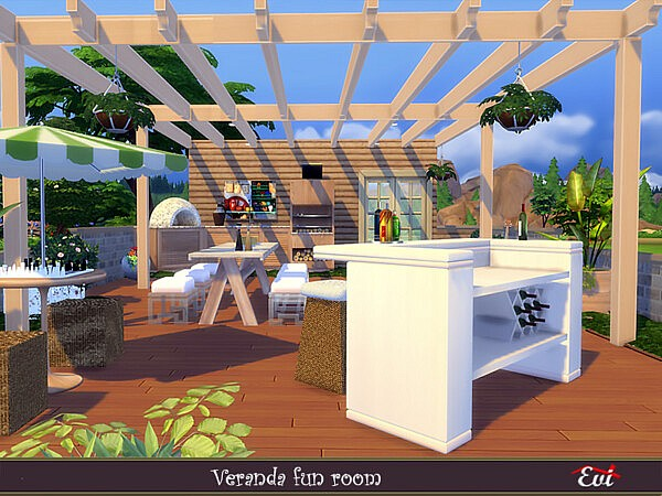 Veranda fun room sims 4 cc