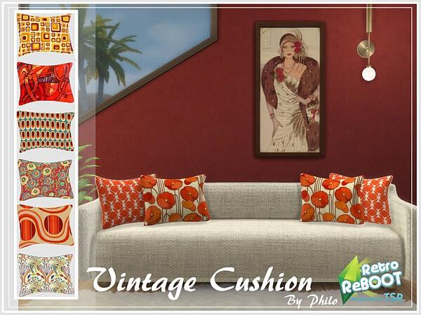 Vintage Cushion sims 4 cc