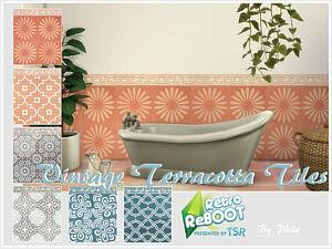 Vintage Terracotta Tiles sims 4 cc