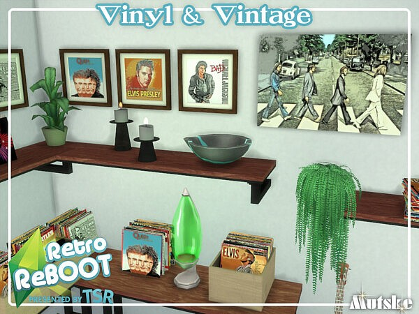 Vinyl and Vintage sims 4 cc