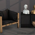 Vison Armchair Bust and Clay Water Jug sims 4 cc