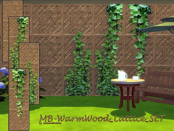Warm Wood Lattice Set sims 4 cc