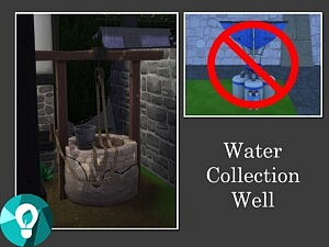 Water Collection Well sims 4 cc