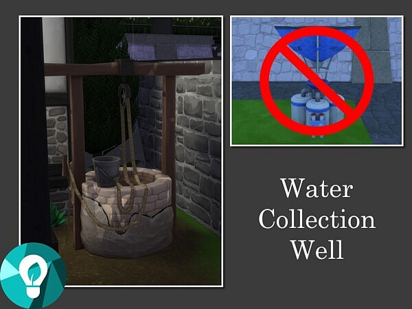 Water Collection Well by Teknikah from Mod The Sims