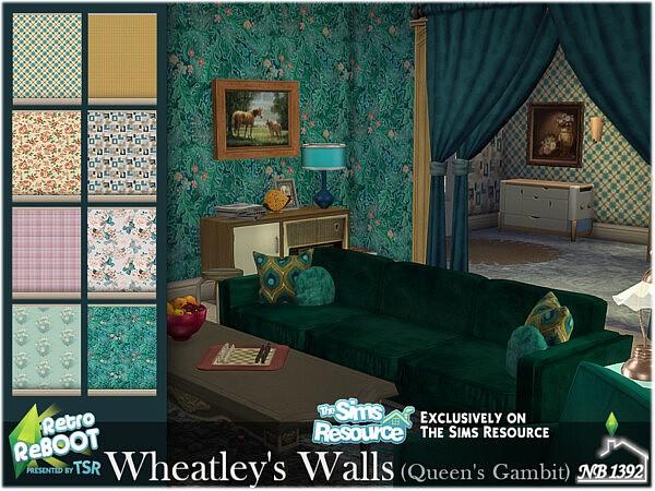 Wheatleys Walls Queens Gambit sims 4 cc