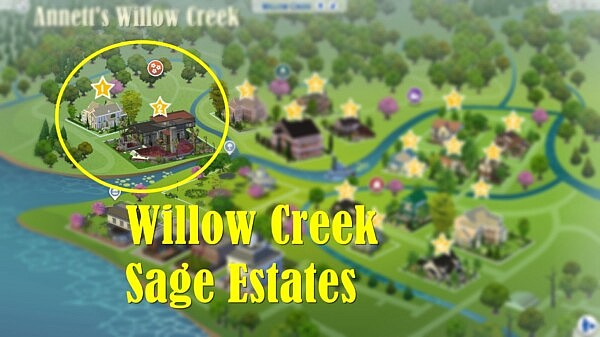 Willow Creek Sage Estates sims 4 cc