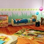 Winnie Pooh Children Bedroom sims 4 cc
