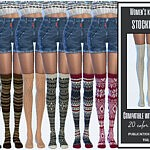 Womens knitted stockings sims 4 cc