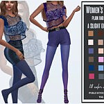 Womens tights plain and with a slight gradient sims 4 cc