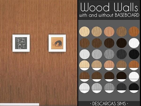 Wood Walls sims 4 cc