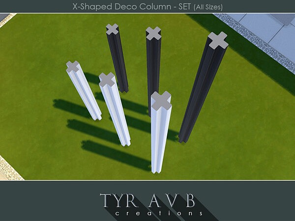 X Shaped Deco Column sims 4 cc
