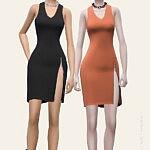Zipped Mini Dress sims 4 cc