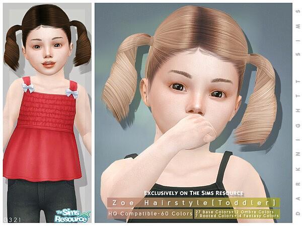 Zoe Hair sims 4 cc