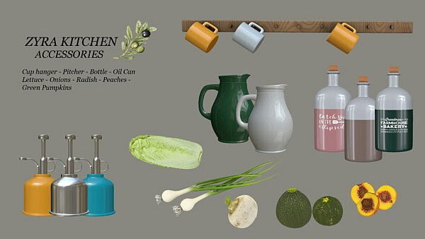 Zyra Kitchen Accessories sims 4 cc