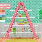 shelf with light string sims 4 cc