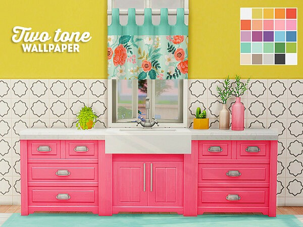 Two tone wallpaper from LinaCherie