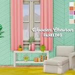 wooden chevron paneling sims 4 cc