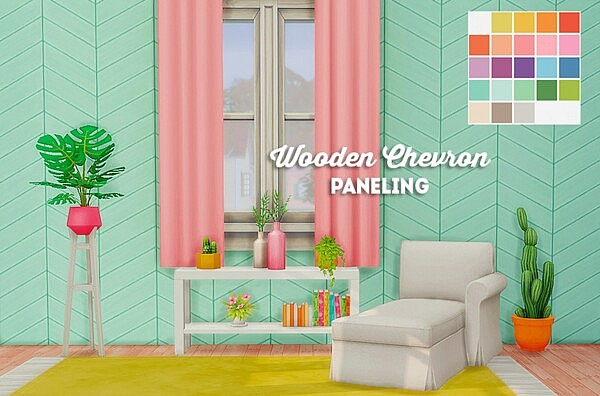 Wooden chevron paneling from LinaCherie