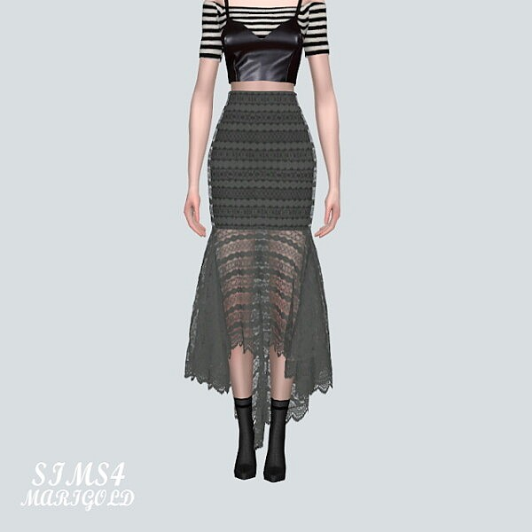 7 Lace Mermaid Skirt V2 from SIMS4 Marigold