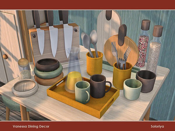 Vanessa Dining Decor by soloriya from TSR