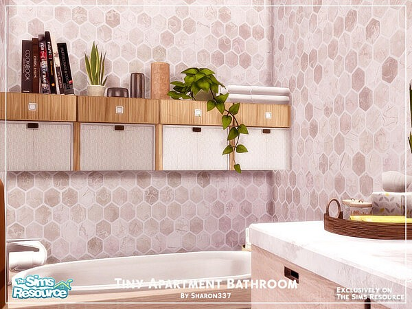 Tiny Apartment Bathroom by sharon337 from TSR