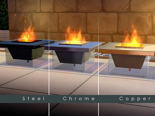 Modern Glass Fire Pit by TyrAVB from TSR