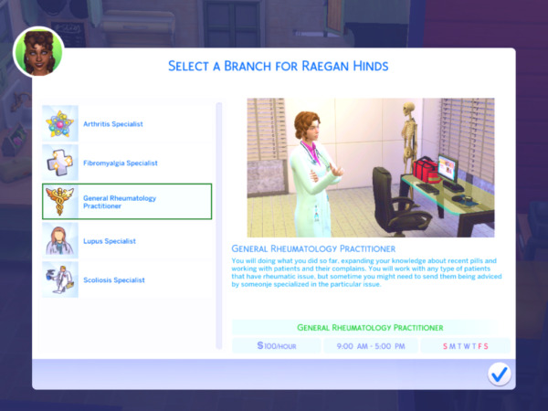 The Ultimate Rheumatologist Career by MiraiMayonaka from Mod The Sims