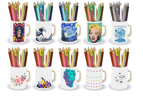 Imadako's pencil mugs from Riekus13