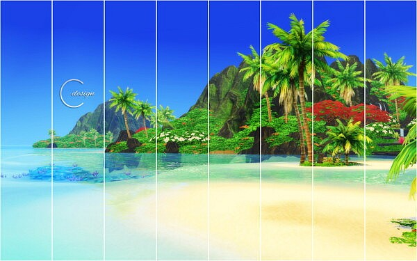 Coconut Beach Mural from Cross Design