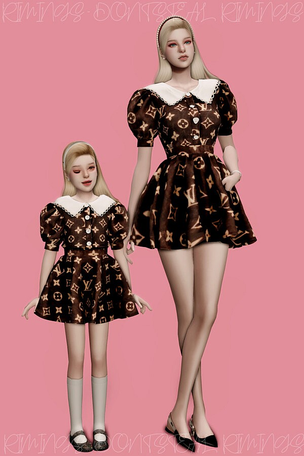 Puff sleeve Dress Couple Look from Rimings