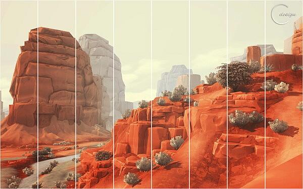 Peach Valley Mural from Cross Design
