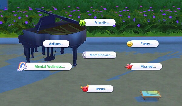 Mental Support and Wellbeing Lot Trait by MiraiMayonaka from Mod The Sims