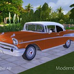 1957 Chevrolet Bel Air sims 4 cc