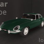 1961 Jaguar E Type sims 4 cc