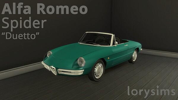 1966 Alfa Romeo Spider Duetto sims 4 cc