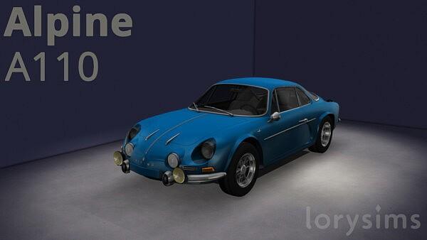 1970 Alpine A110 sims 4 cc