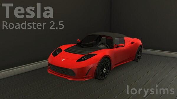 2011 Tesla Roadster 2.5 sims 4 cc