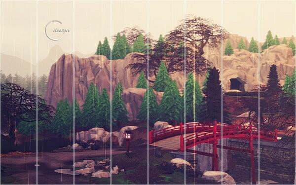 Rainy Japan Mural from Cross Design