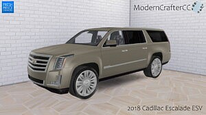 2018 Cadillac Escalade ESV sims 4 cc