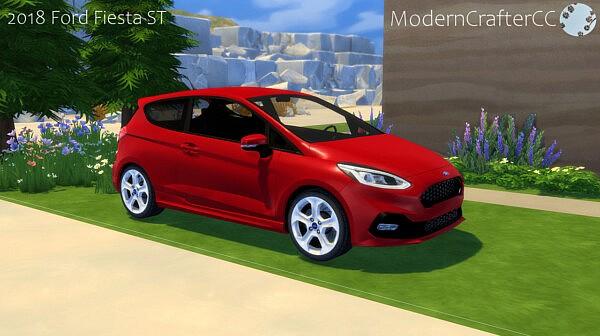 2018 Ford Fiesta ST sims 4 cc