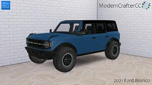 2021 Ford Bronco sims 4 cc