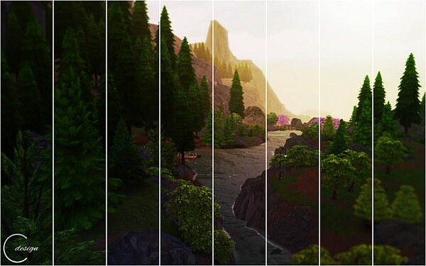 Tranquil Forest Mural from Cross Design