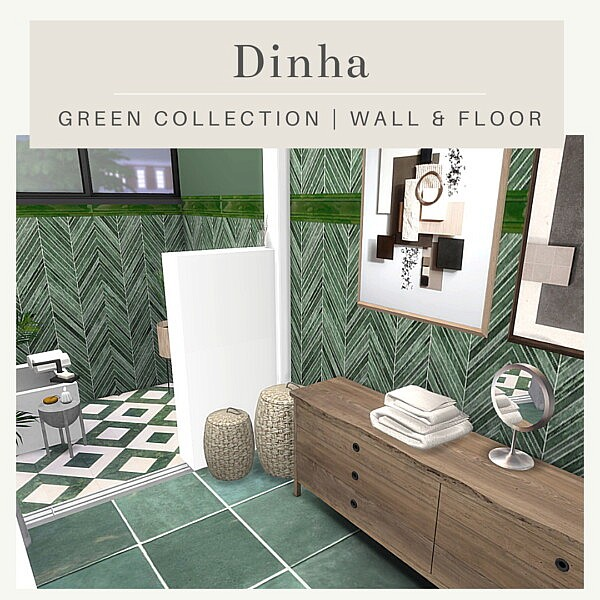 Green Collection: Wall and Floor from Dinha Gamer