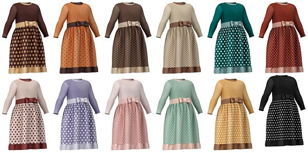 Dresses with bow and buttons from Lazyeyelids