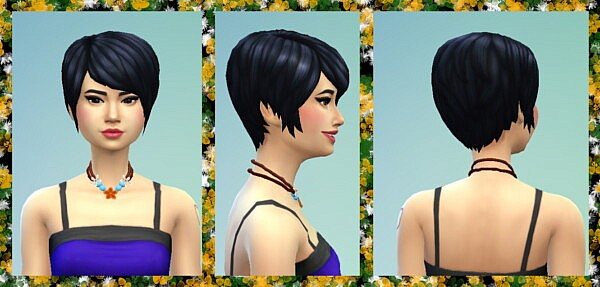 Flower Child Necklace by WelshWeirdo from Mod The Sims